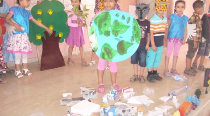 Atelier de sensibilisation des enfants à l'importance du recyclage le 17/5/2014