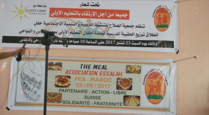 participation à l'événement The Meal 2017 le 23/9/2017